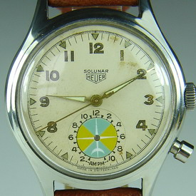 Heuer Solunar For Sale