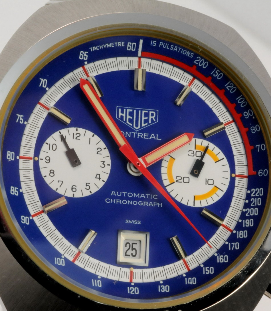 Heuer Montreal, with Inner Tachymeter Bezel