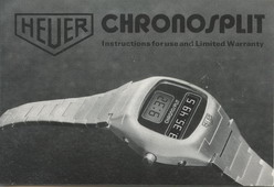 Instruction Booklet for Chronosplit