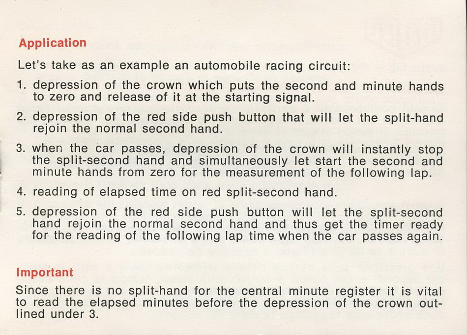 Instructions for Using Taylor Split-Second Stopwatch