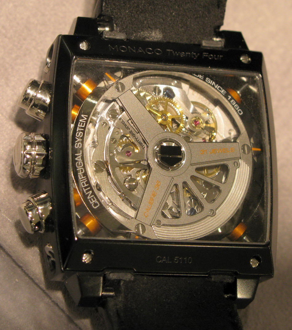TAG Heuer Monaco 24 (Case-Back and Movement)