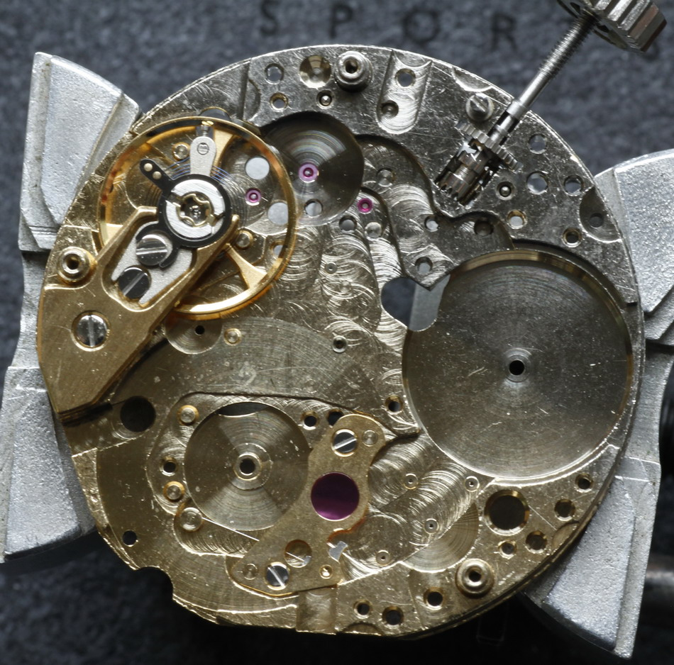 Heuer 28800 VPH Movement -- Plate
