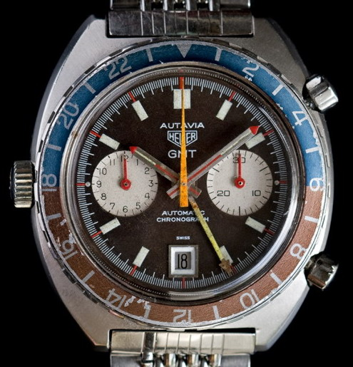 Heuer Autavia 1163 GMT -- with Red Needles