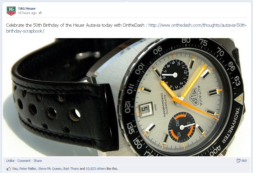 TAG Heuer Facebook Page, December 6, 2012