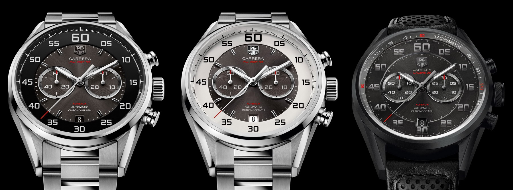 TAG Heuer Carrera Calibre 36 Flyback -- Three Versions