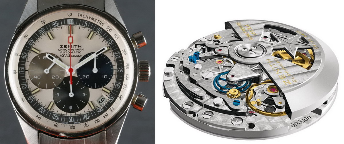 6ea5883db35 Zenith El Primero Watch and Movement. TAG Heuer's Calibre 36 Chronographs  ...