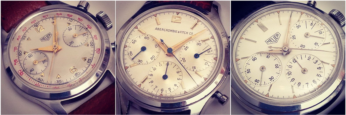 Three Heuer Chronographs -- Circa 1960