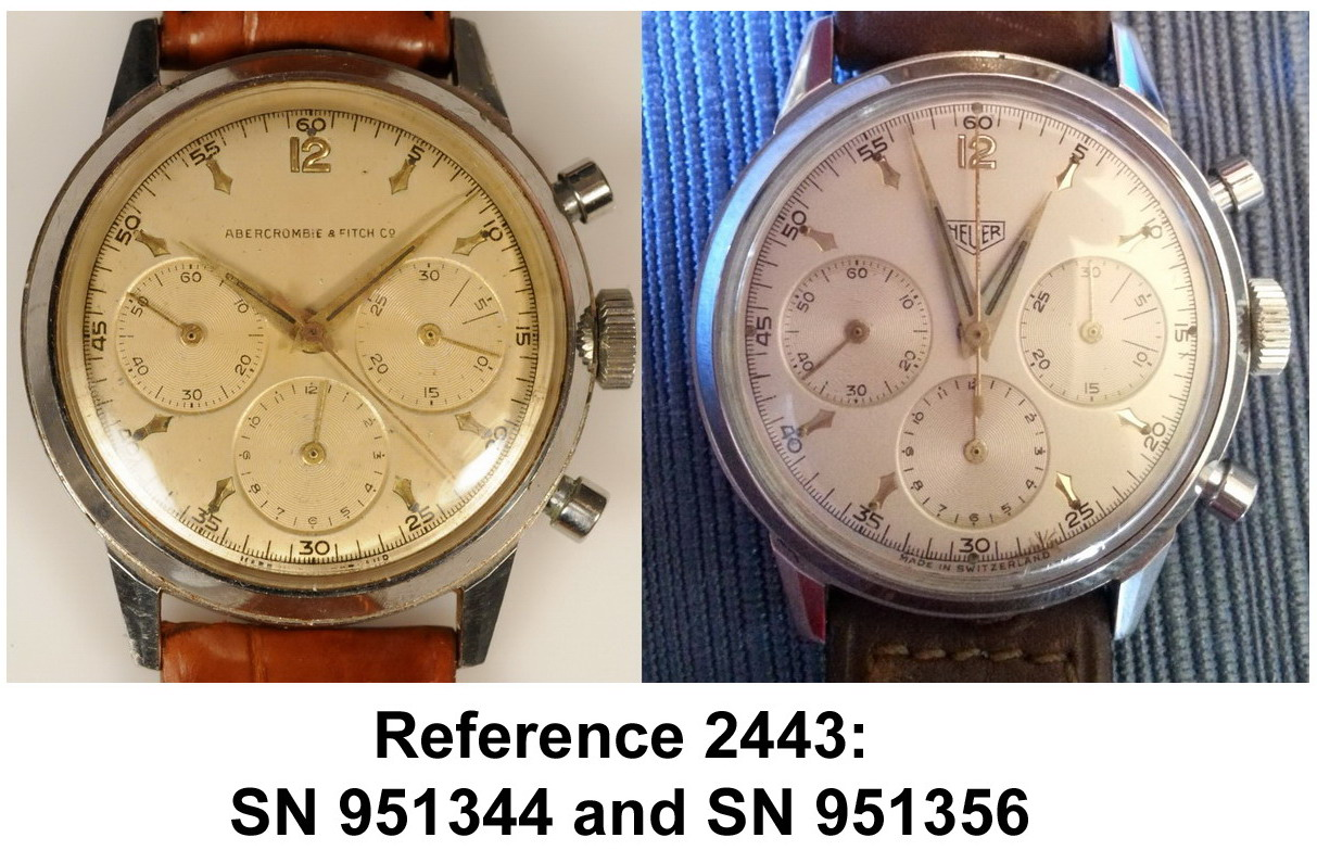 Heuer Reference 2443 -- Serial Numbers