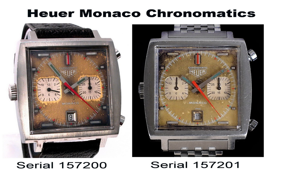 Two Chronomatic Monacos -- Serial Numbers