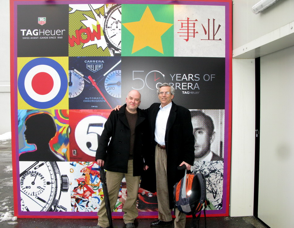 Mark Moss and Jeff Stein at Entrance to Exhibition Hall