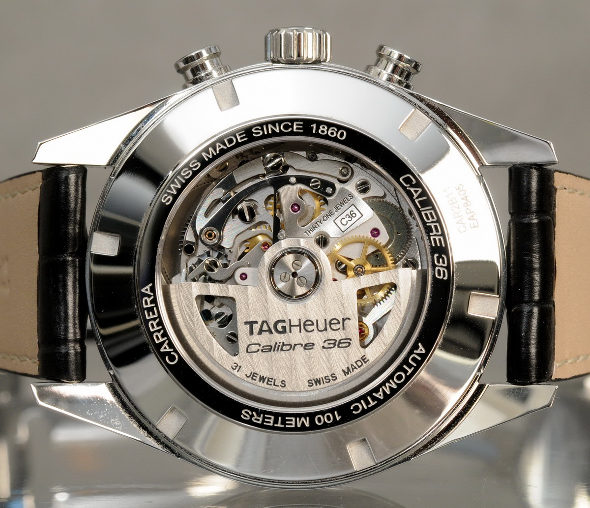 TAG Heuer Carrera Calibre 36 Flyback -- Case-back