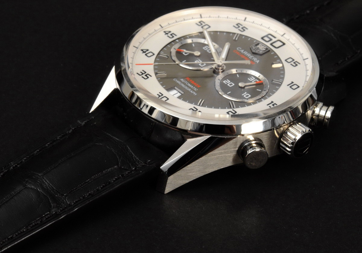 TAG Heuer Carrera Calibre 36 Flyback -- Profile with Strap
