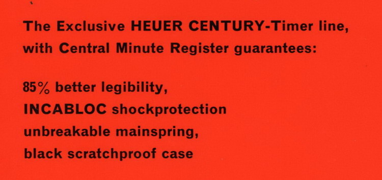 Description of Century Line of Stopwatches