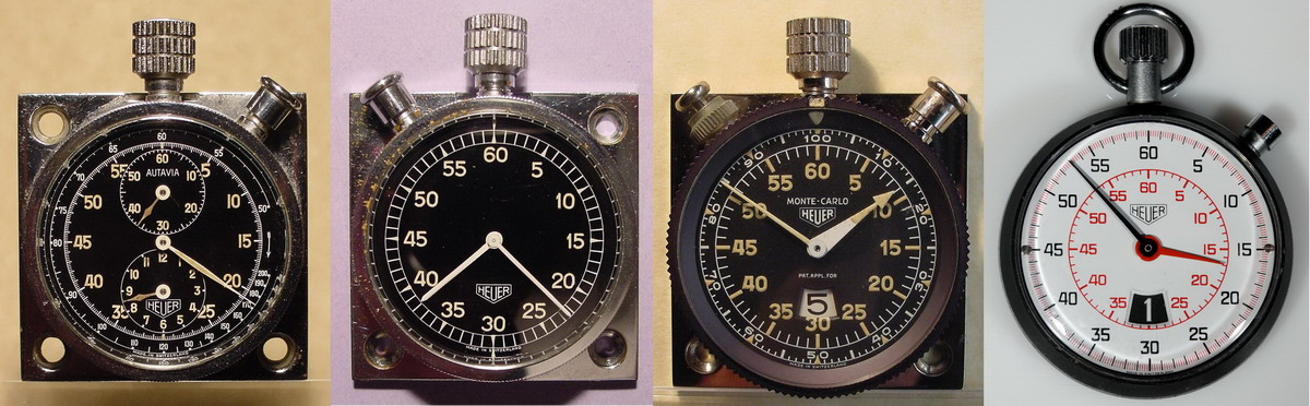 Heuer Timers -- Evoluation of Legibility