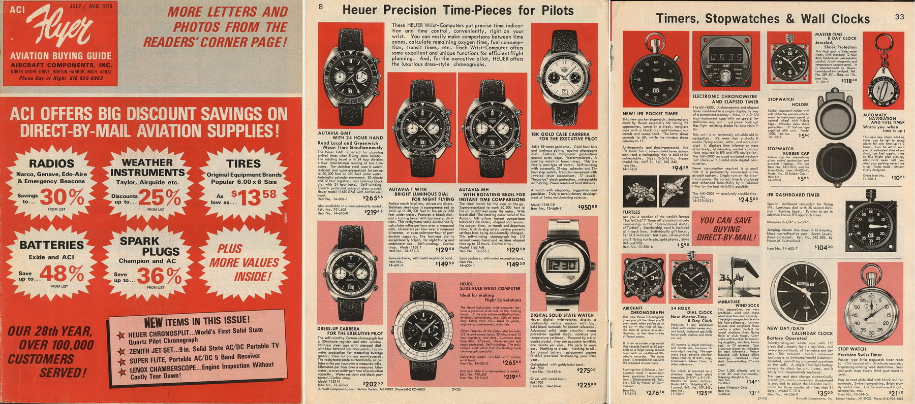 Catalog Showing Heuers for Civil Aviation