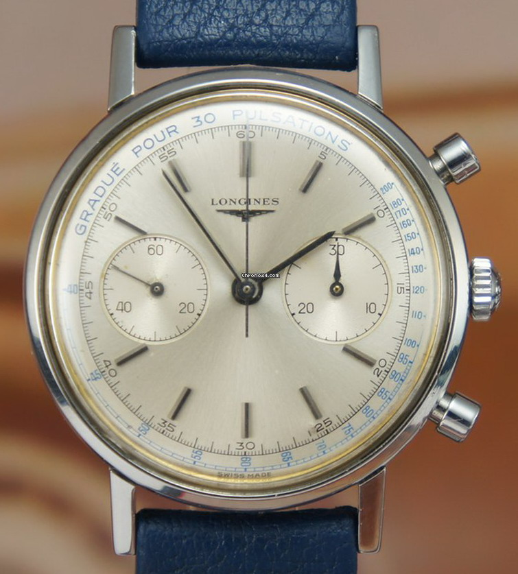 Longines Flyback Chronograph Marked for Pulsations