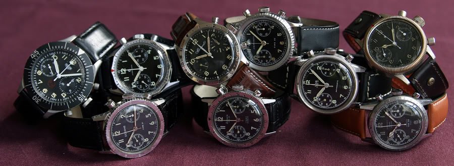 Pilots Chronographs with Flyback Feature