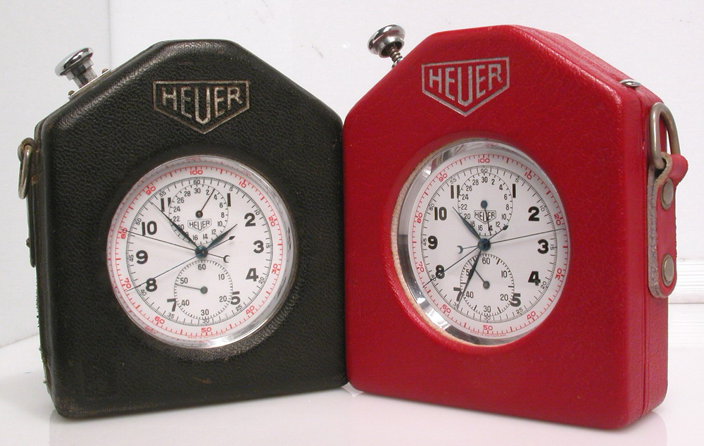 Heuer Split Second Pocket Chronographs in Carrying Cases