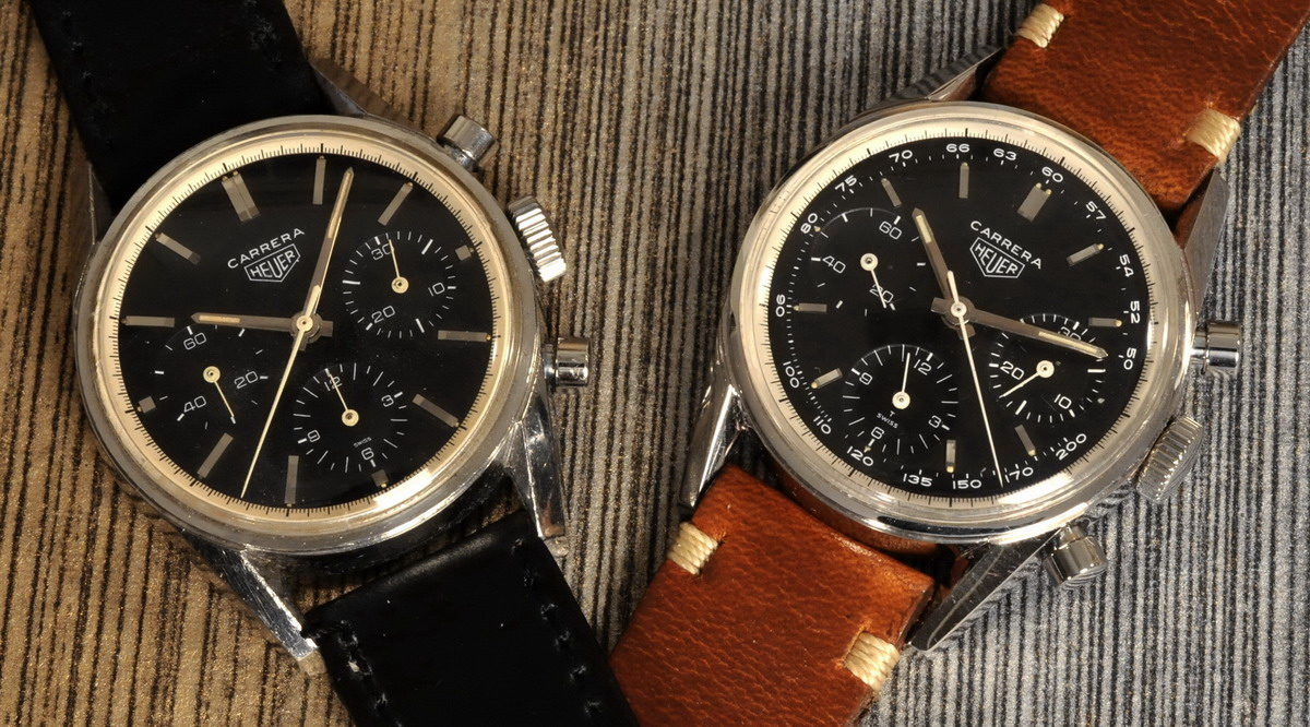 Heuer Carreras -- Ref 2447N and 2447NT