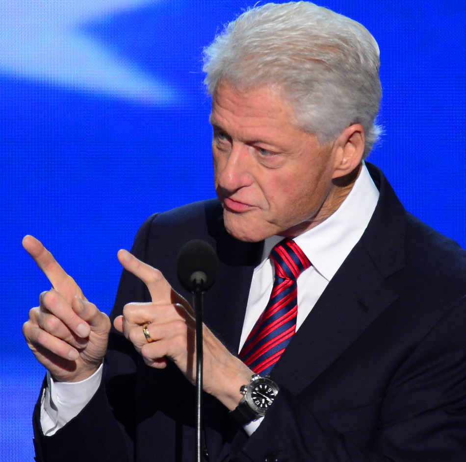Bill Clinton in Jaeger-LeCoultre Master Compressor Diving Alarm Navy SEALs watch
