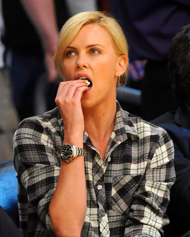 Charlize Theron Wearing Rolex Deep Sea