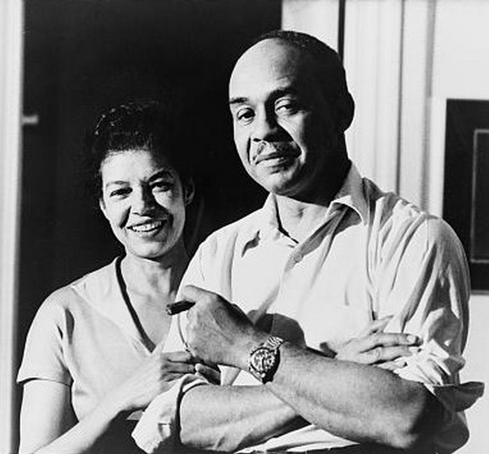 Ralph Ellison Wearing an Omega Speedmaster