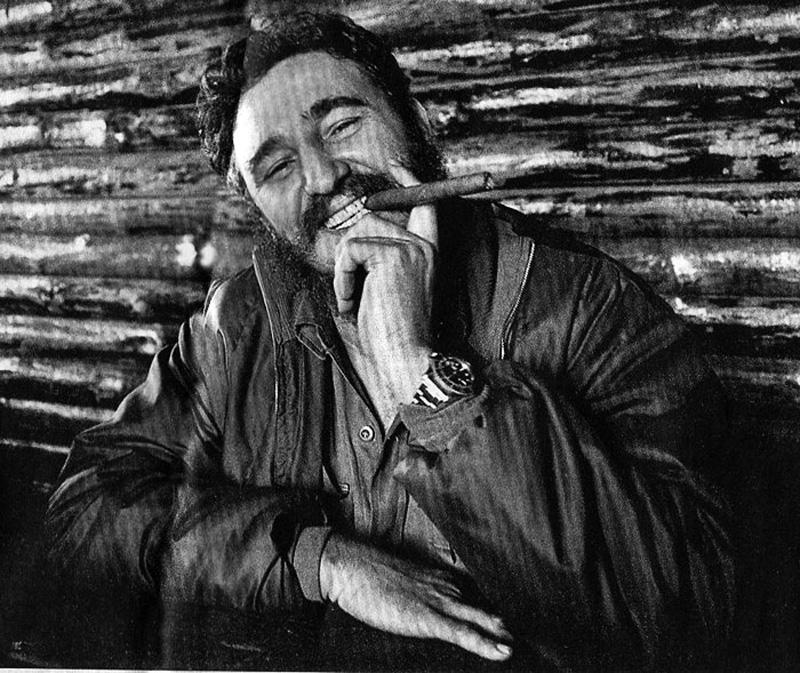 Fidel Castro Wearing a Rolex