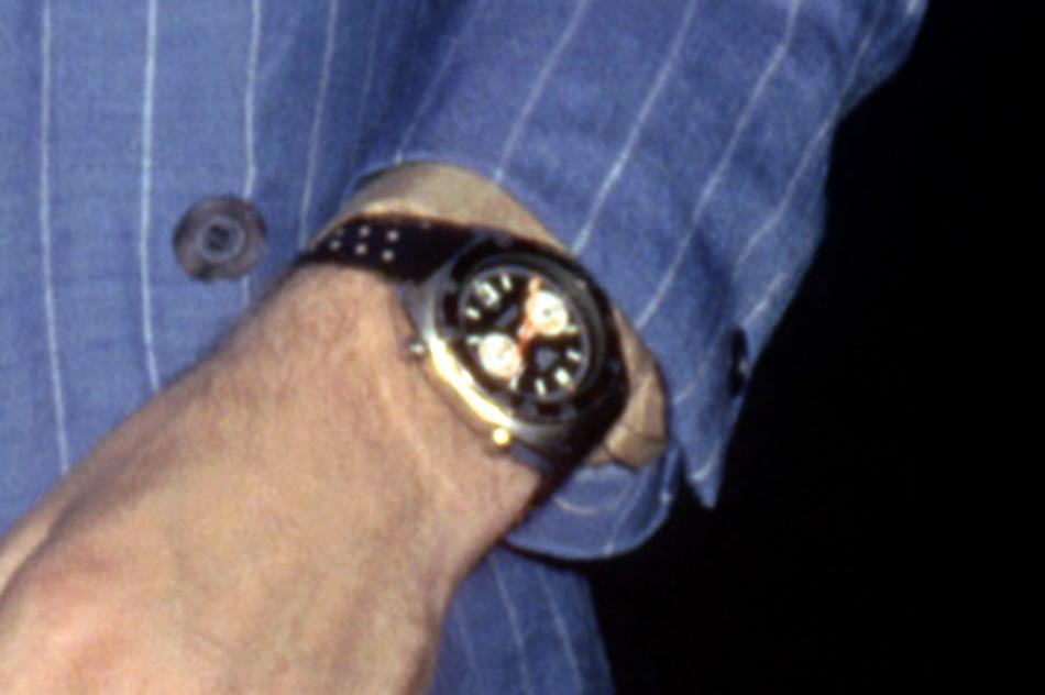 Mick Jagger Wearing Heuer Autavia, 1978