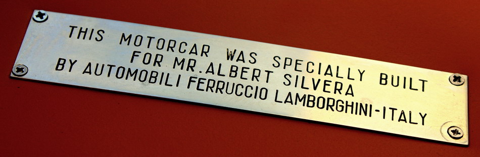 Lamborghini Countach LP400 Silvera -- Plate