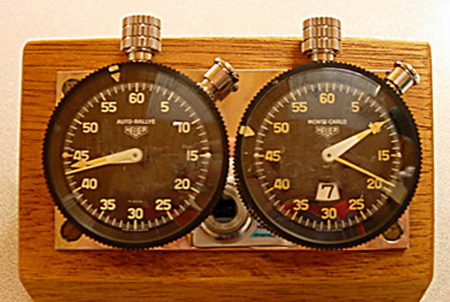 Heuer Dashboard Timers from Le Mans
