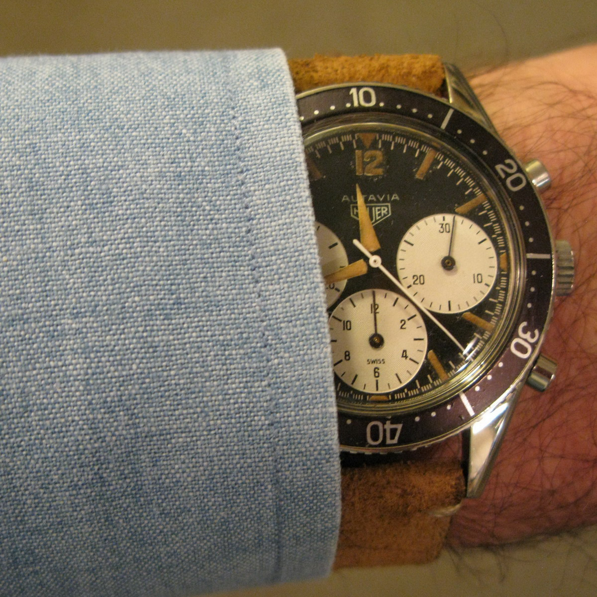 Heuer Autavia, First Execution Dial