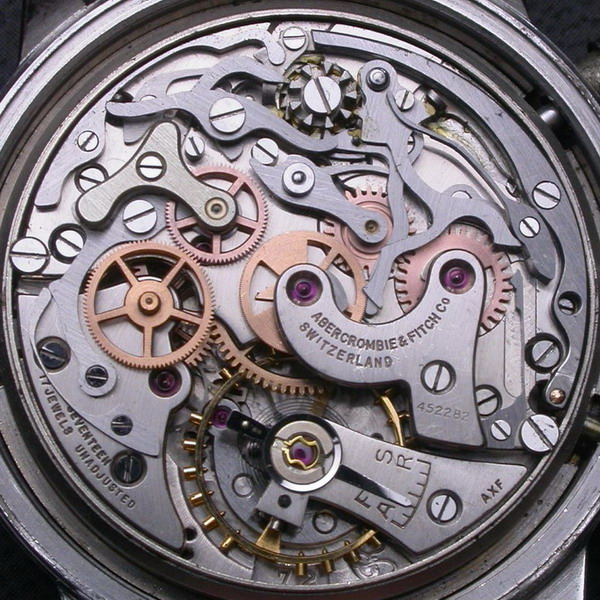 Popurri de calibres cronograficos de carga manual. Valjoux721AFSF