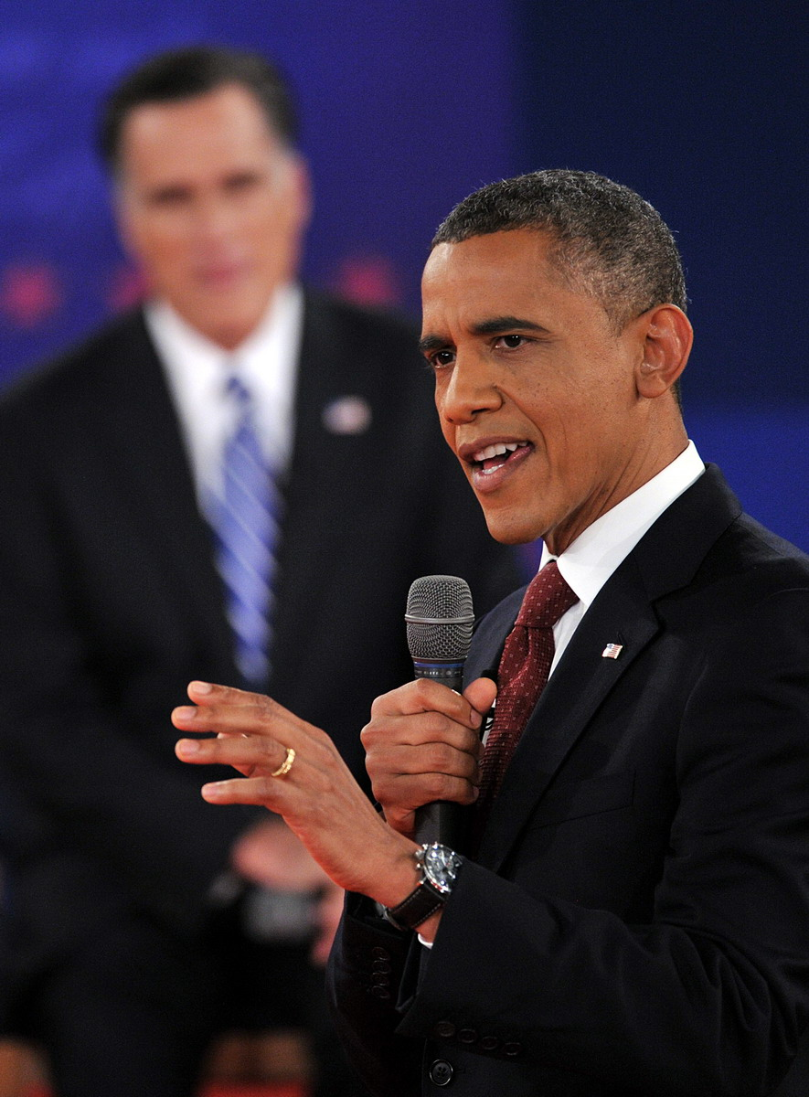 Barack Obama at Presidential Debate -- October 2012