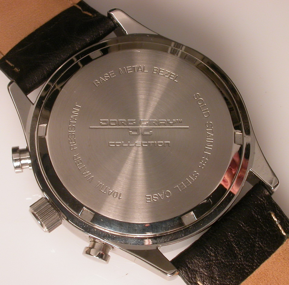 Jorg Gray JG6500 Chronograph, Back
