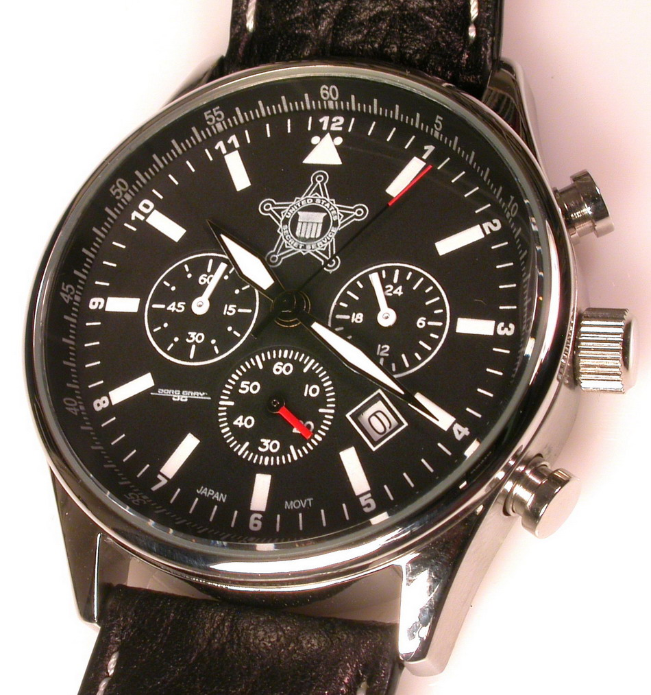 Jorg Gray JG6500 Chronograph, with Secret Service Logo