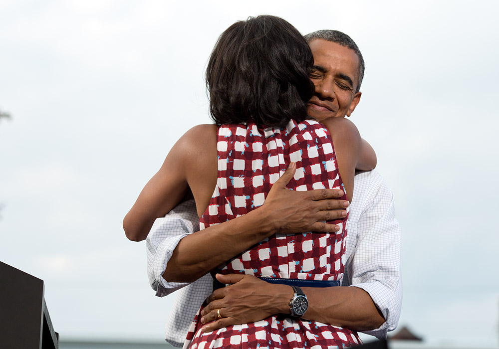Barack and Michelle Obama, August 2012