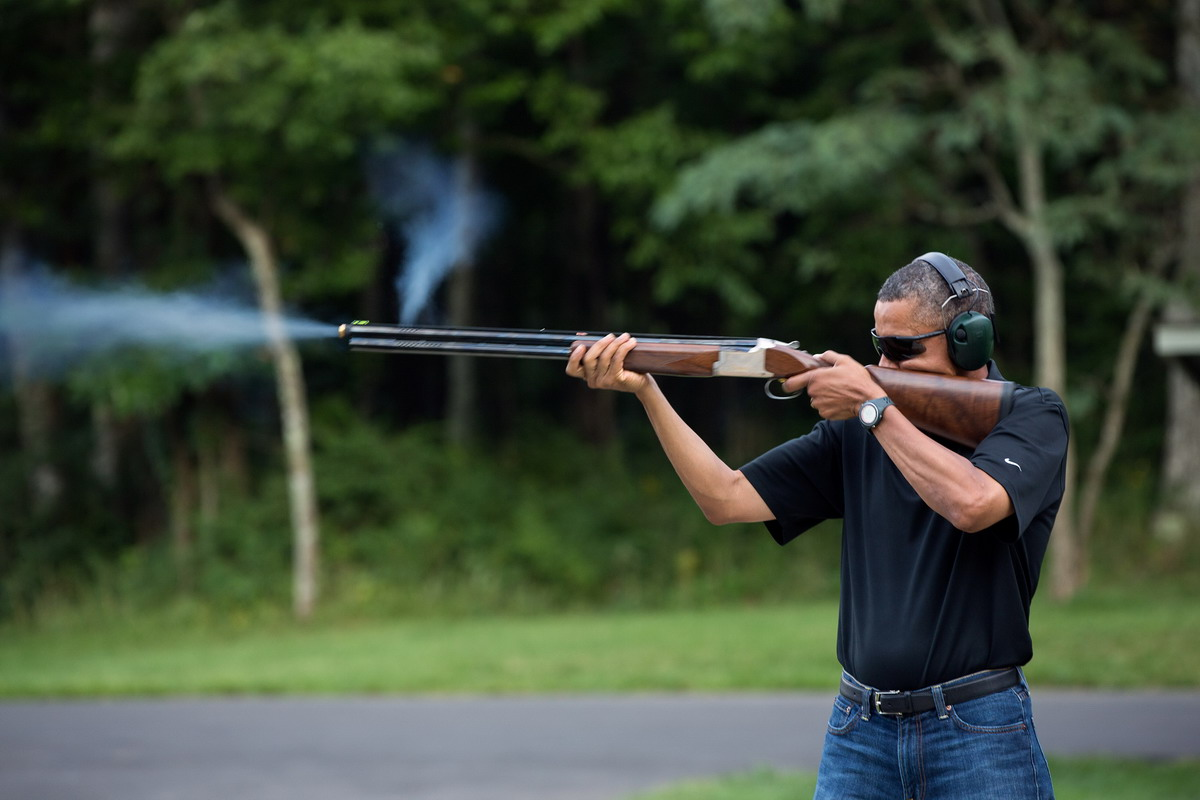 Obama Wearing New Balance Watch -- Shooting