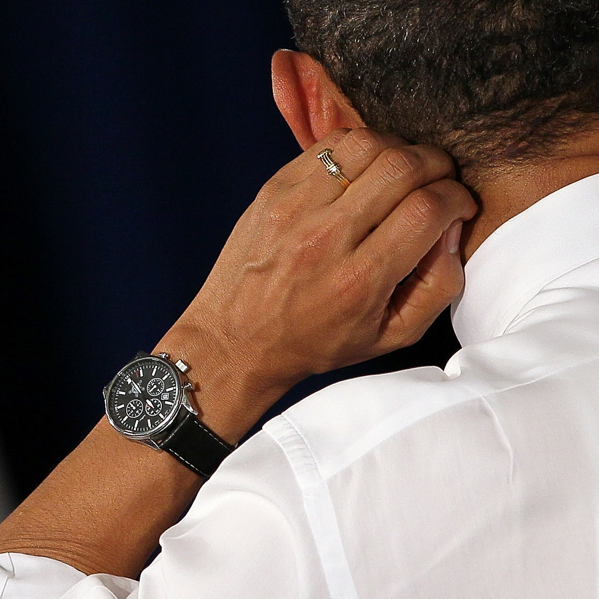 Obama Wearing Jorg Gray JG6500 Chronograph
