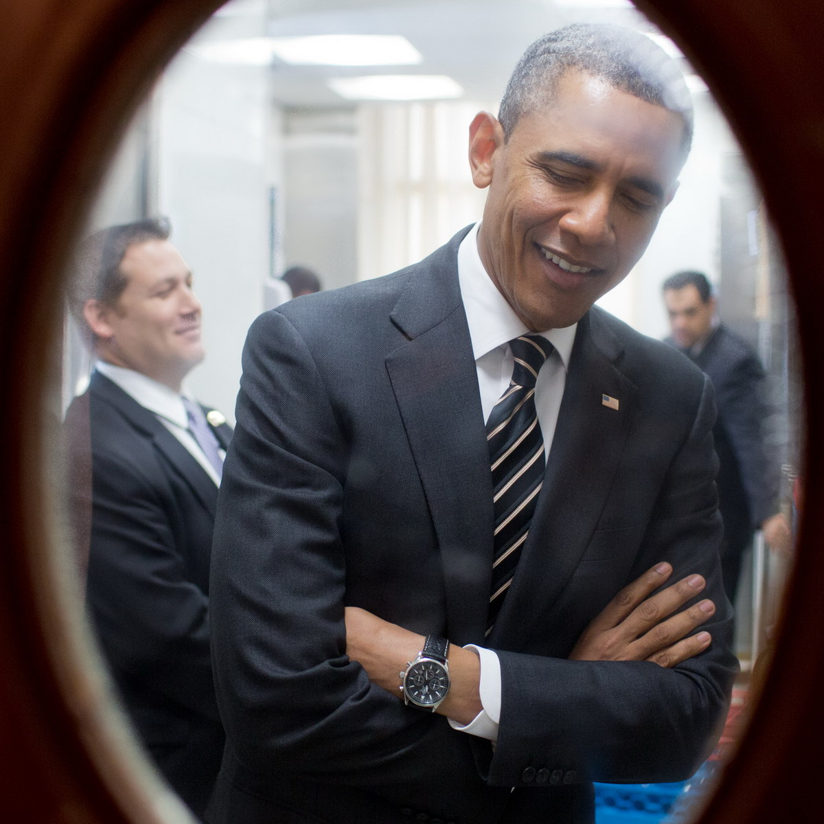 Barack Obama Wearing Jorg Gray JG6500 Chronograph