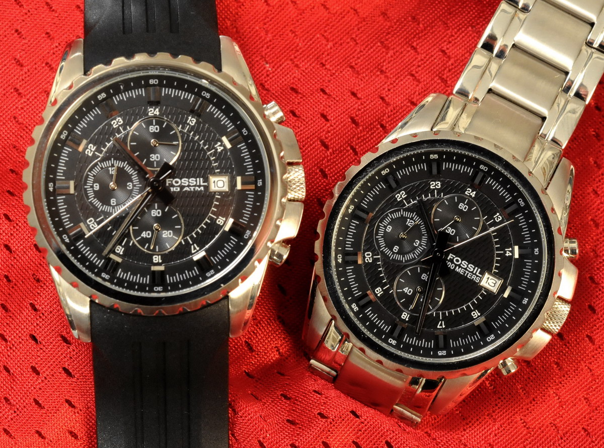 Fossil Reference CH 2446 and CH 2497 Chronographs