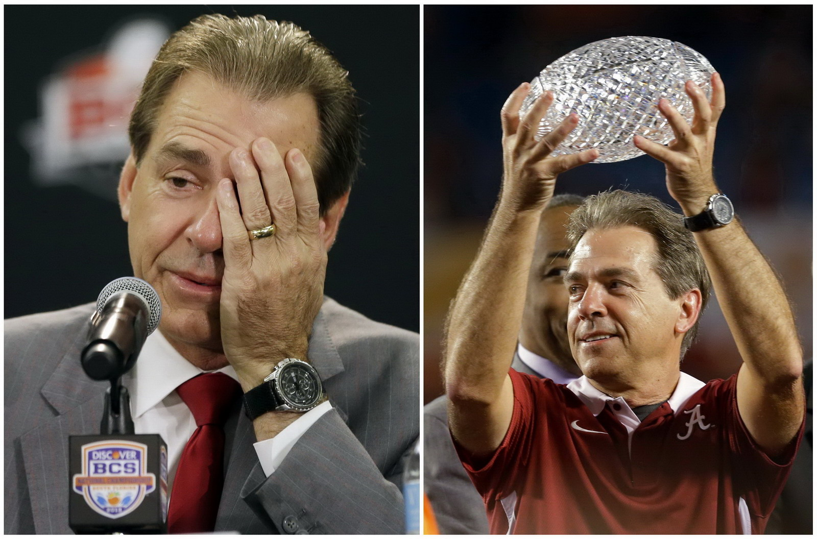 Nick Saban (Alabama) at BCS National Championship Game