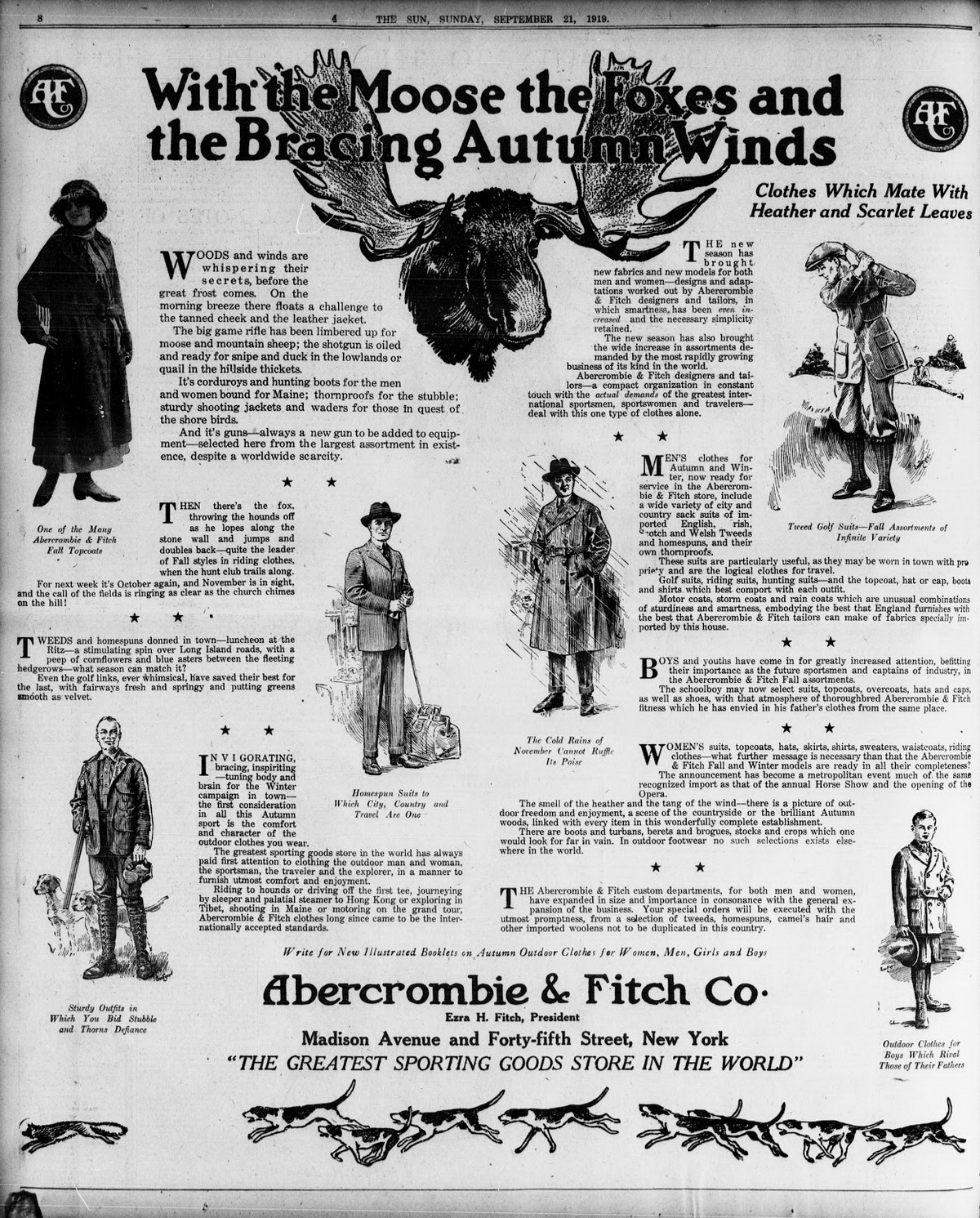 Abercrombie & Fitch Advertisement, 1919