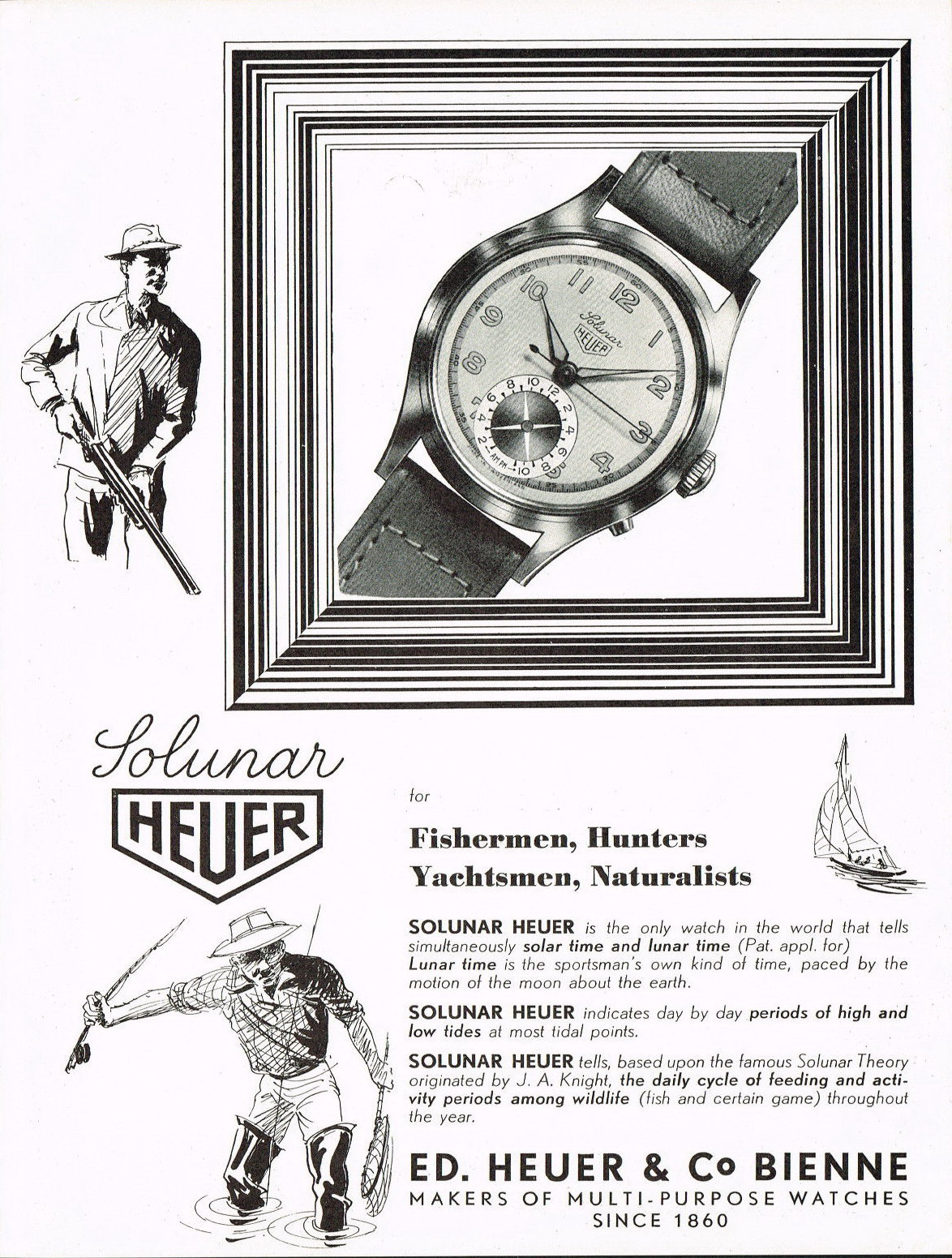 Advertisement for Abercrombie & Fitch Solunar Watch