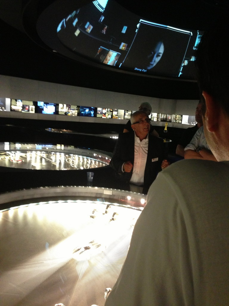 Jack Heuer Leading Museum Tour