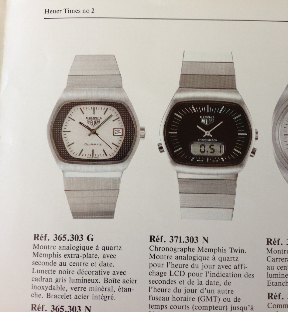 Heuer Memphis Shown in Catalog