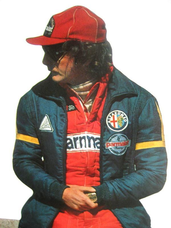 Niki Lauda, Ferrari Driver, Wearing 18 Karat Gold Carrera