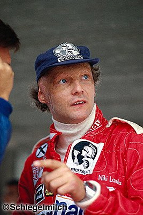 Niki Lauda wearing Chronosplit
