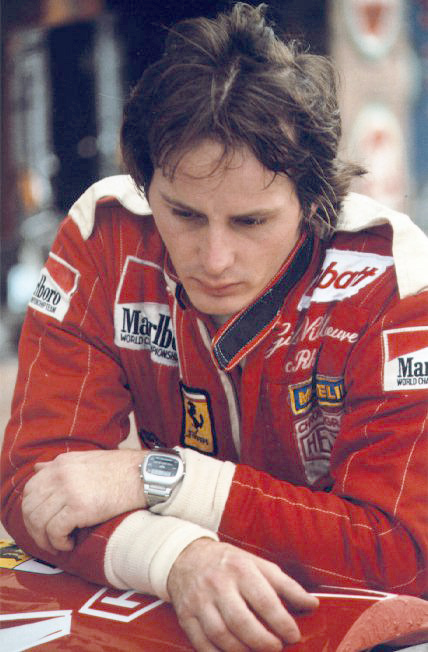 Gilles Villeneuve Wearing Chronosplit