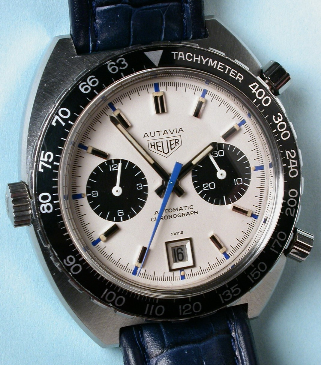 "Heuer Autavia, Ref 1163T (""Siffert"" Model)"