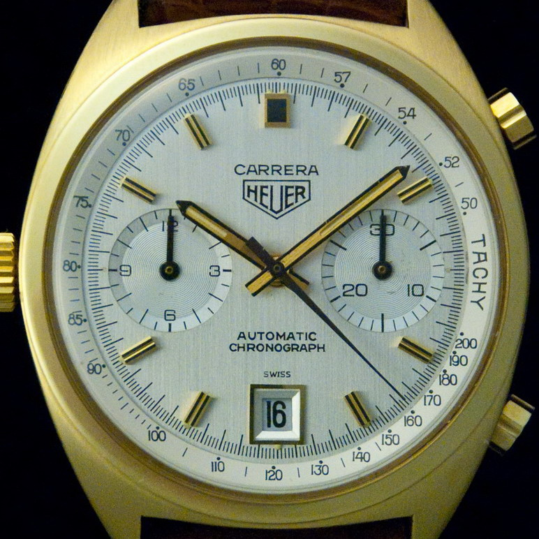 Heuer Carrera, Reference 1158, with Inner Tachymeter Bezel